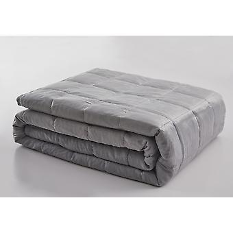 Spura Home Light Grey 7 Layer Soft Weighted Blanket Reduce Stress Deep Sleep