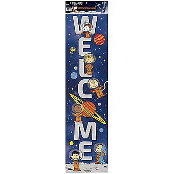 "Peanuts Nasa Welcome Vertical Banner, 12"" X 45"""