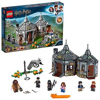 Lego harry potter 75947 hagrid'Äôs hut: buckbeak'Äôs rescue leikkisetti hippogriff-hahmolla, harry po