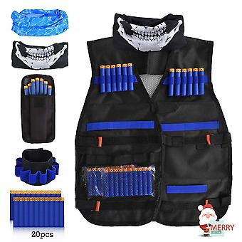 Loyo kids tactical vest, adjustable tactical vest jacket kit for nerf toy gun n-strike elite series