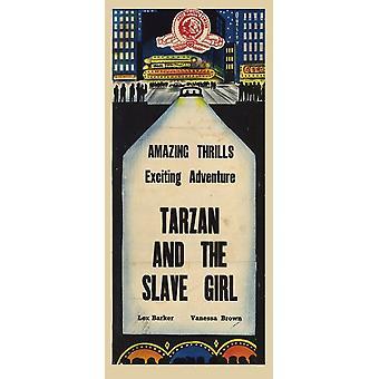 Tarzan und das Sklavenmädchen c1950 Movie Poster (11 x 17)