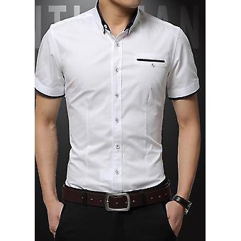 半袖ターンダウンカラーシャツ