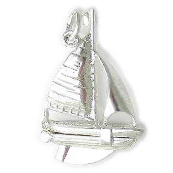Yacht Opening Sterling Silver Charm .925 X 1 Boote Und Yachten Charms - 4507