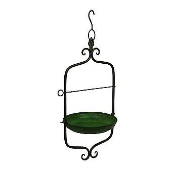 Zielony styl Vintage przewijania motyw metalu dokarmianie ptaków