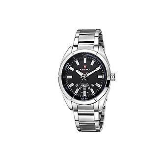 Naviforce Mens Homage Quartz Watch Black Silver Watches Fashion Designer Gift UK