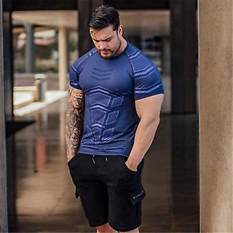 Große Herren Kompression Sporting Skinny T-Shirt