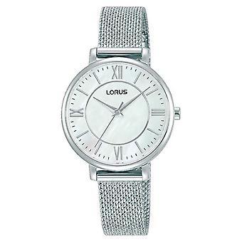 Lorus naisten | Valkoinen valinta | Ruostumattomasta teräksestä valmistettu verkko rannekoru RG221TX9 Watch