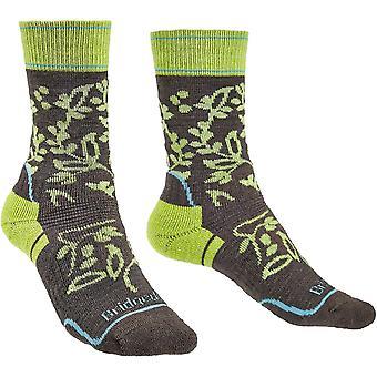 Bridgedale HIKE medio merino rendimiento patrón de botas calcetines para mujer