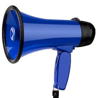 Portable Megaphone Strap Grip Loudspeaker Record Play Tour Guide Loudspeaker
