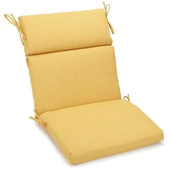 Coussin de chaise carrée extérieure en polyester de 18 pouces par 38 pouces - Citron