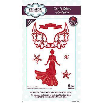 Expressões Criativas Natal - Coleção Festiva Cortando Morre - Anjo Festivo 2020