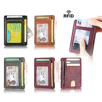 Super thin RFID Wallet - 7 slots + banknote pocket