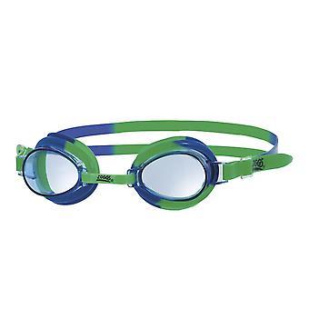 Zoggs Little Swirl Swim Goggle 0-6yrs- Clear Lens - Green/Blue Frame