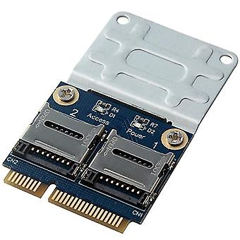 2 Ssd hdd voor laptop dual micro- sd sdhc sdxc tf naar mini pcie mpcie naar 2