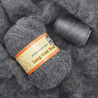Long lana visón yarn diy mano tejiendo para suéter sombrero bufanda