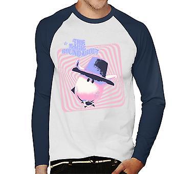 The Magic Roundabout Ermintrude Psychedelische Lijnen Men's Baseball T-Shirt met lange mouwen