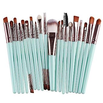 Professional foundation  makeup brushes set 20 pieces  brown hzs-71