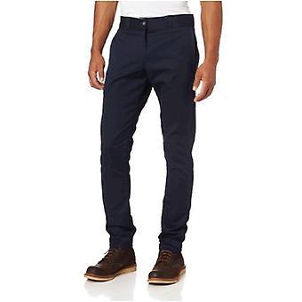 Dickies Men's Skinny Straight Fit Work Pant, Dark Navy, 26x32