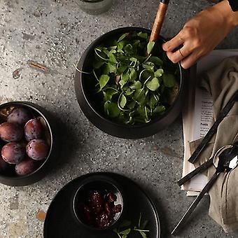 Skandinavisk design miljøvenlig pigmenteret keramisk høj ris og suppeskål