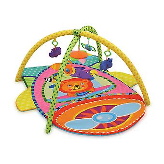Lorelli Playbow Crawling Blanket Plane Colorful Toy Mirror Rattle from Birth