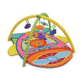 Lorelli Playbow Crawling Blanket Plane Färgglada Leksaksspegel skallra från födseln