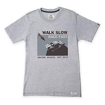 Miesten lyhythihainen T-paita OMP Walk Slow Grey