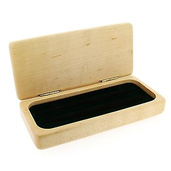 GTP Unisex Maple Wood Finish Double Pen Gift Box - Perfect Present Solid Gift Wooden Pen Case/Box IMP325M