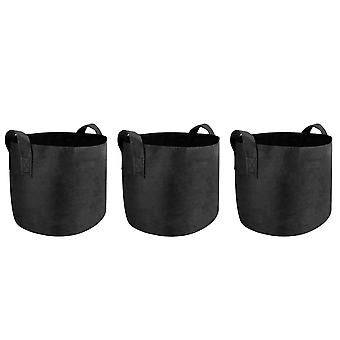 Plant Grow Bags | M&W Breathable Nonwoven Fabric Plant Grow Bags for Planting & Growing Potatoes, Fruits and Vegetables | 10 Gallon | M&W