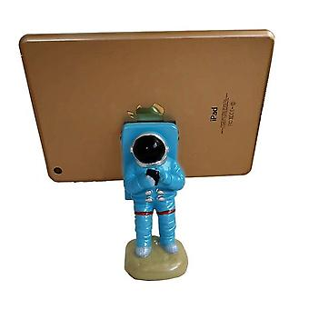 Creative Office Desk Decoration Resin Mobile Phone Holder Astronaut Home Supplies Crafts