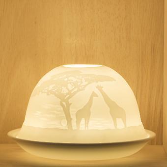 Porcelain Giraffe Tea Light Holder