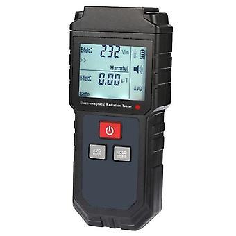 Kannettava käsikäyttöinen digitaalinen LCD-sähkömagneettinen säteilytestaaja Sähkökenttä magneettikenttäannosmittarin ilmaisin ääni- ja valohälytyksellä