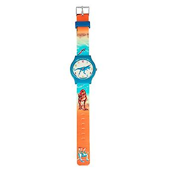 Depesche 6642 Children's wristwatch, with silicone strap, Dino World design with Ref water splash protection. 4010070566821