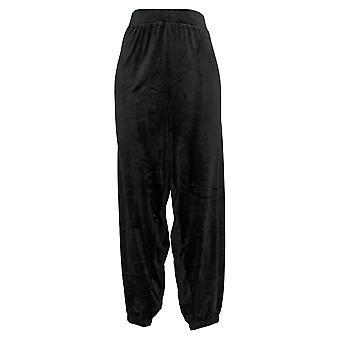 Carole Hochman Women's Petite Pants Silky Stretch Jogger Black A381874