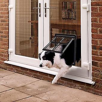 Haustierklappe für Fliegengitter Hundeklappe mit Magneten Katzenklappe Fliegengittertür Einfache