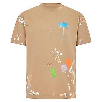 Palm Angels PXP Painted Classic Beige T-Shirt