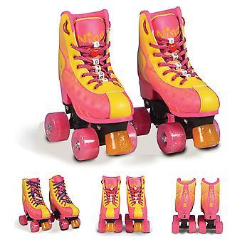 Byox Roller Skates Nina 2 ABEC-5 Portant 4 ROUES PU PU Bouchon Différentes tailles