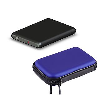 Hard Nylon Carry Bag Compartment Case Cover For 2.5'' Hdd Hard Disk New
