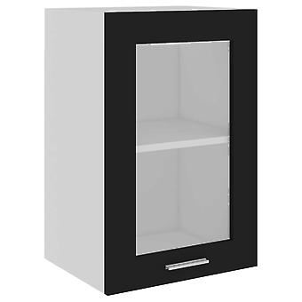 vidaXL Hangglas kast Zwart 40x31x60 cm Spaanplaat