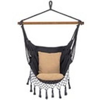 Silla colgante con bolsillo lateral 130 x 100 cm + Cojines - Gris y Beige
