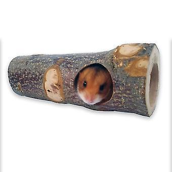 Uusi puu reikä hamsteri kultakarhu tunneli orava sokeri liiturit lemmikki leikki molar lelu ES4886