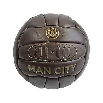 Man City Retro Heritage Leather Ball Tamaño 5