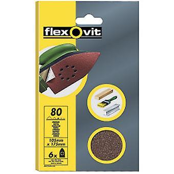 Flexovit Detaljer Slibeark - 6 Pack (105 x 175mm) 120g (Fint)
