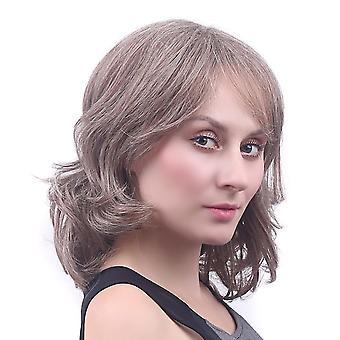 Ženy's krátke čipky front kučeravé syntetické vlasy parochne