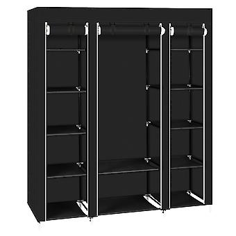 """69"""" Portable Clothes Closet Wardrobe Storage Organizer With Non-woven Fabric (uk Order Only)"""