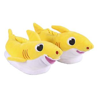 3D Hus Tofflor Baby Shark Gul
