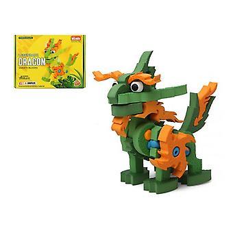 3D Puzzle Legendary Dragon Green 111408