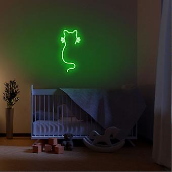 Katt - Grön Grön Vägglampa