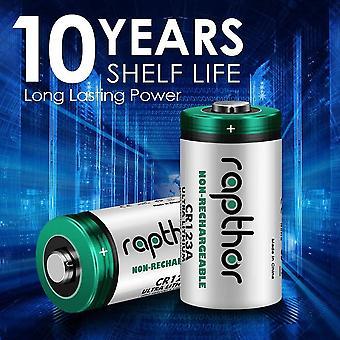CR123A 3V Lithium-Batterie, 1650mAh 16 Pack, kann CR17345 ersetzen