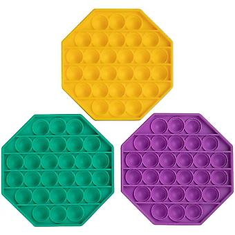 Push Pop Bubble Stress Reliever Octagon Shaped