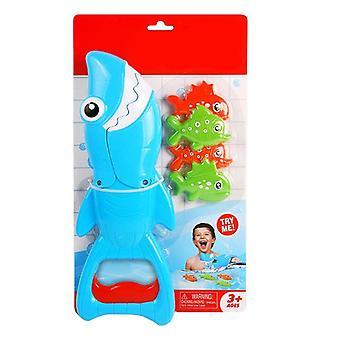 Shark Grabber Bath Toy For Boys Girls Catch Game With 4 Fishes Bathtub Fishing|Bath Toy